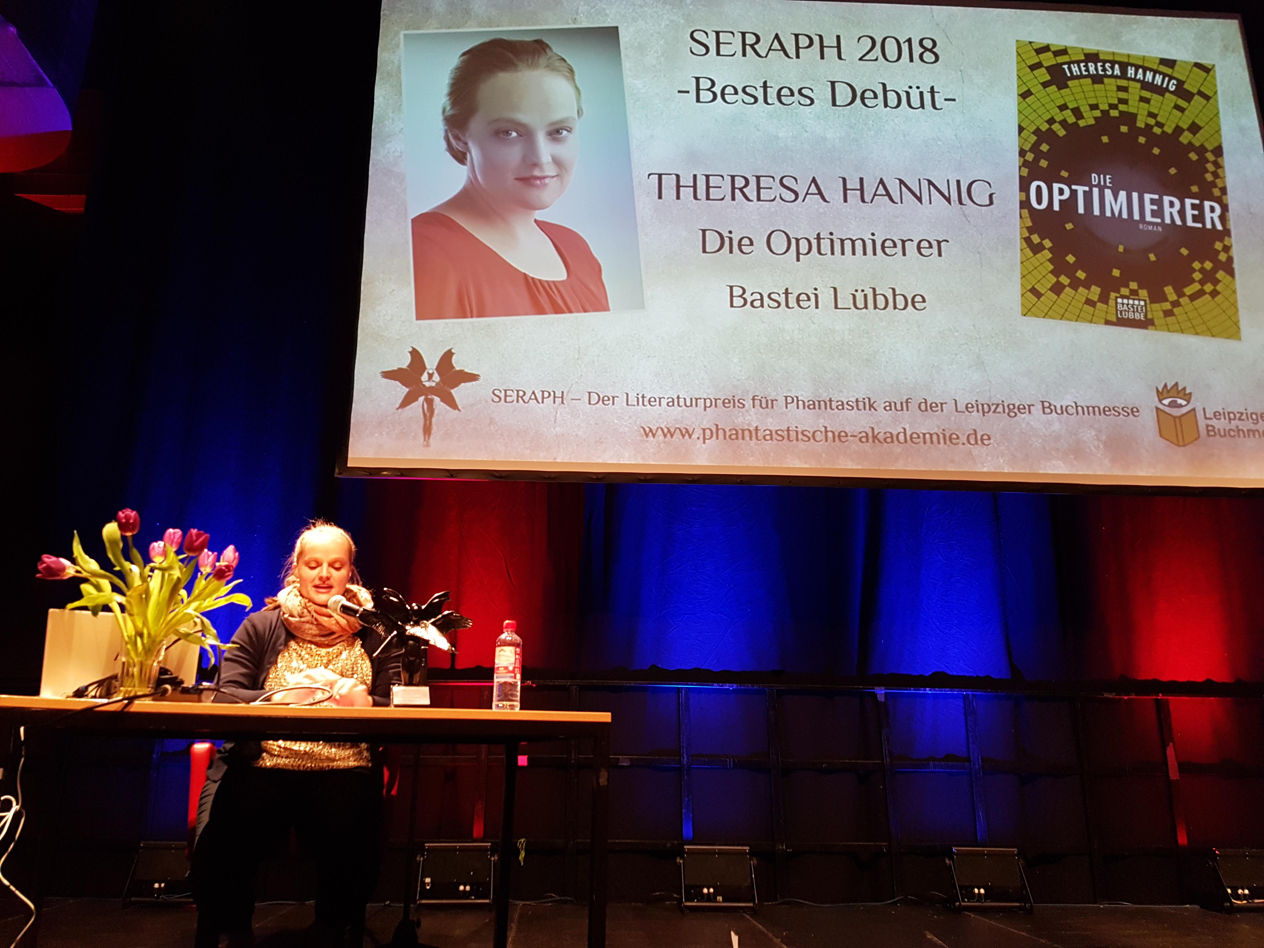 Theresa Hannig bei der Lesung