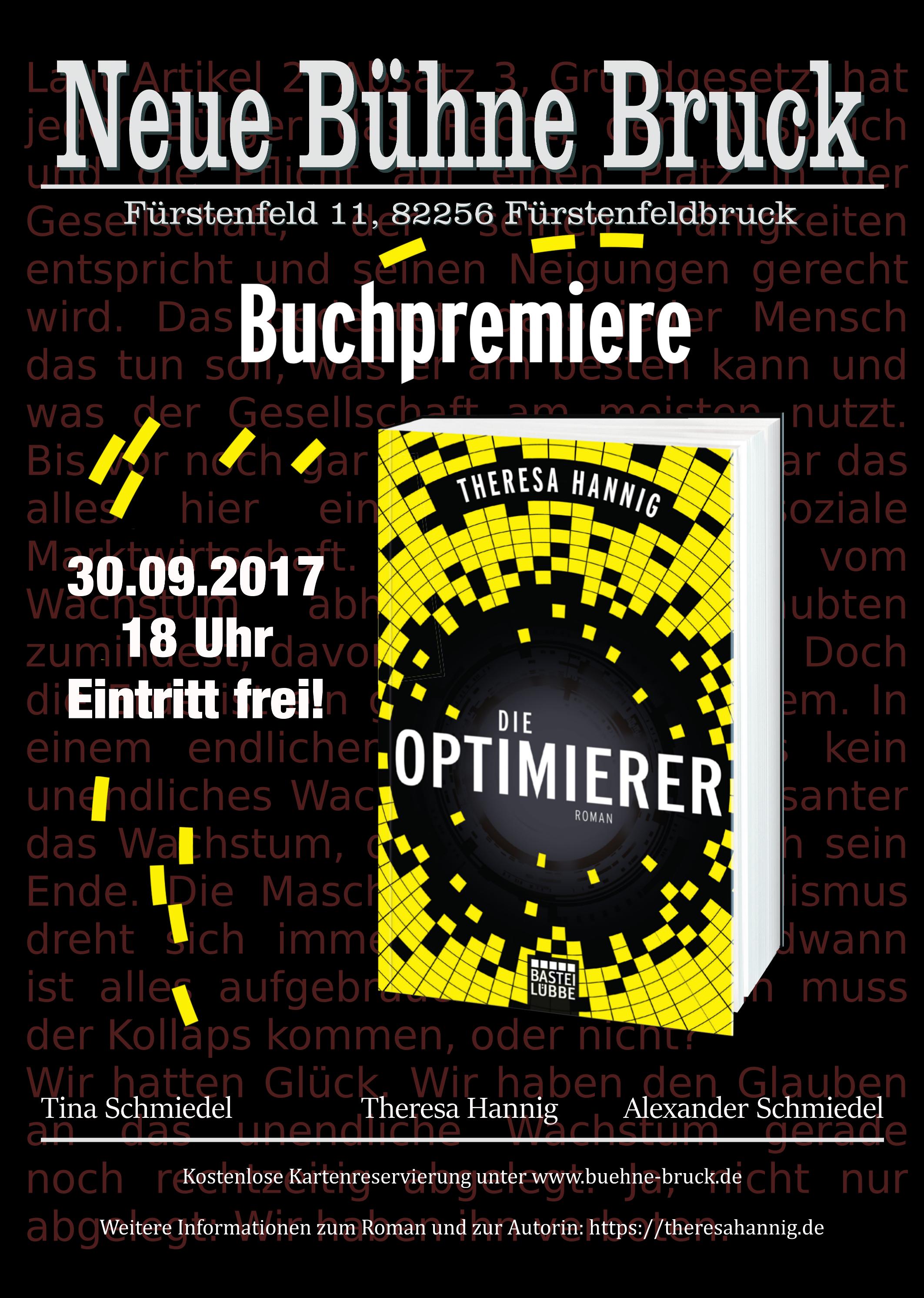 Offizielles Plakat für die Neue Bühne Bruck