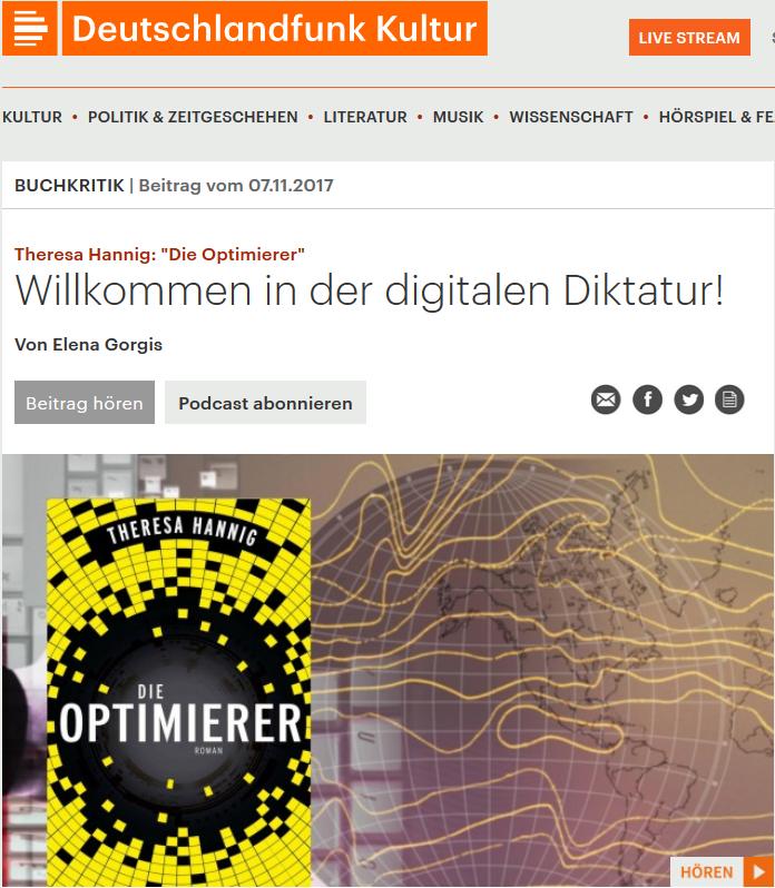 Die Optimierer beim Deutschlandfunk Kultur