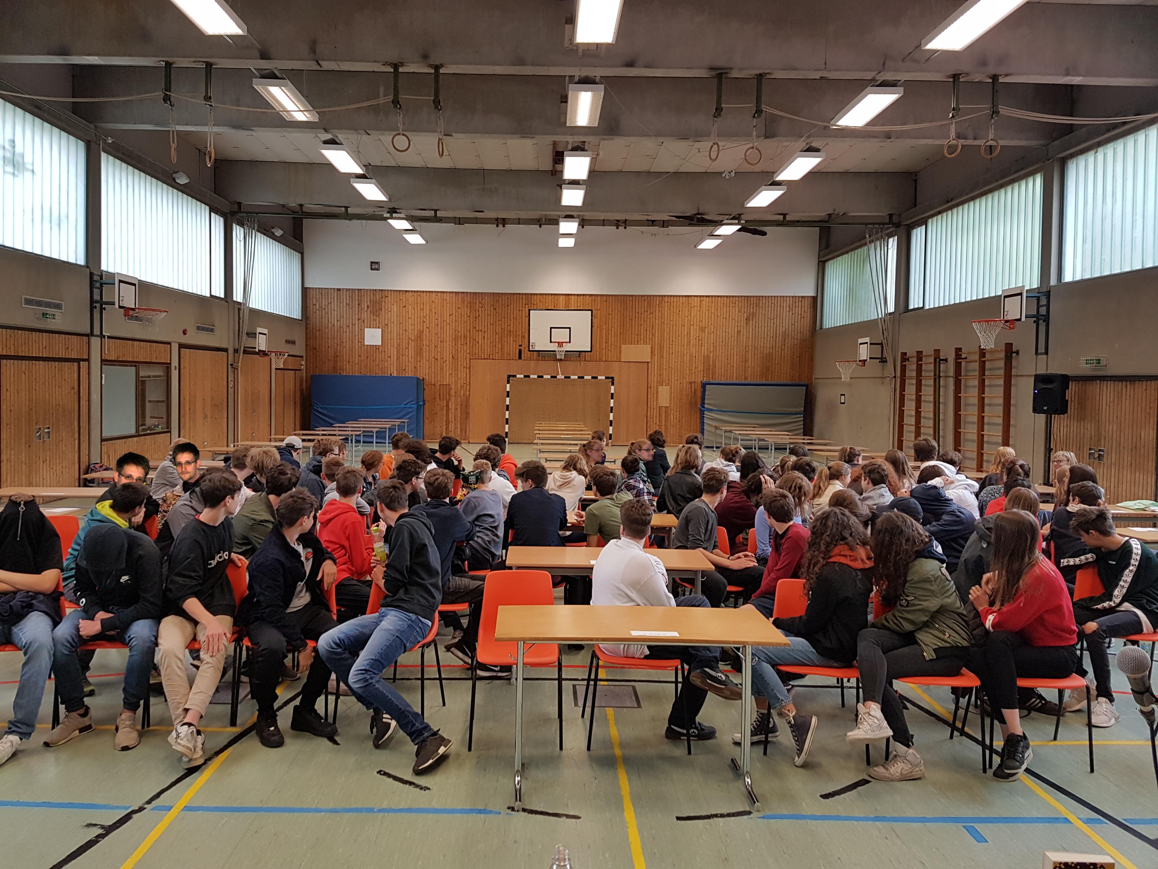 Lesung im Karlsgymnasium München