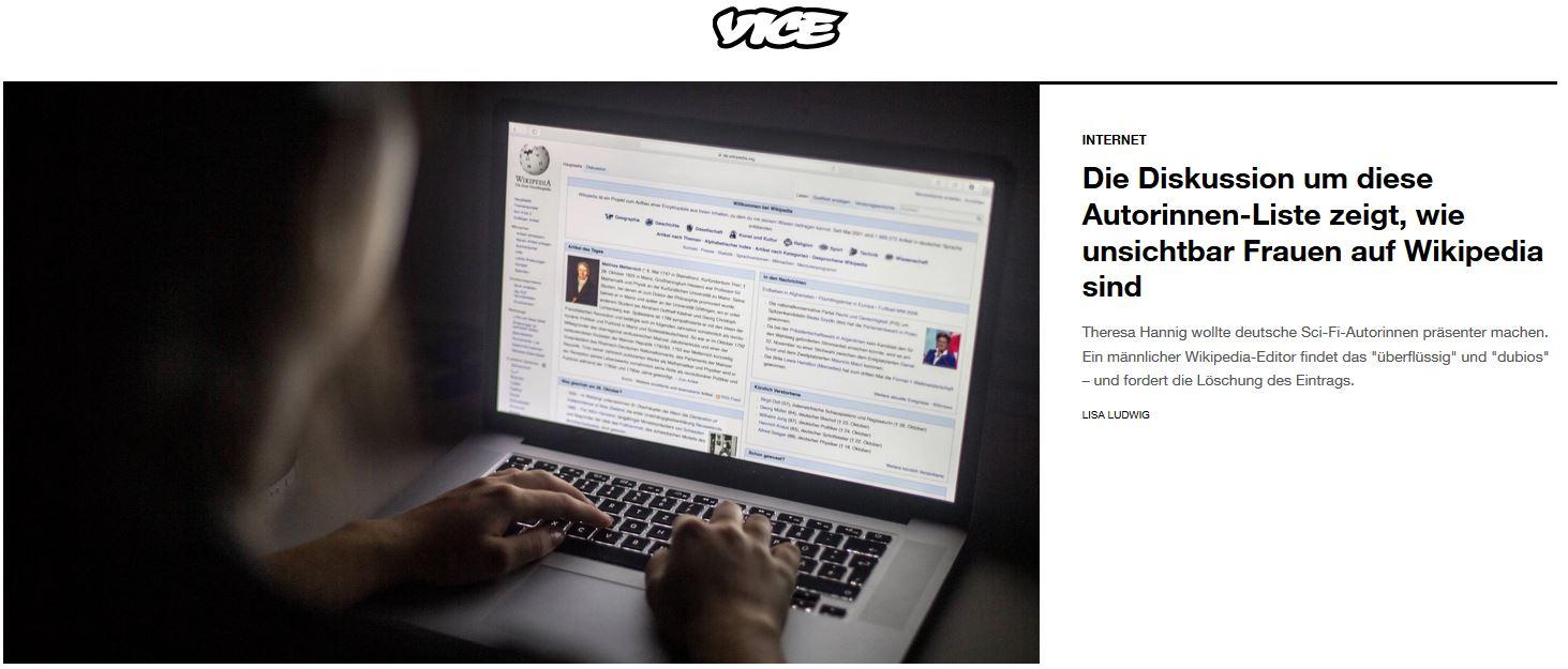 Artikel im VICE Magazin