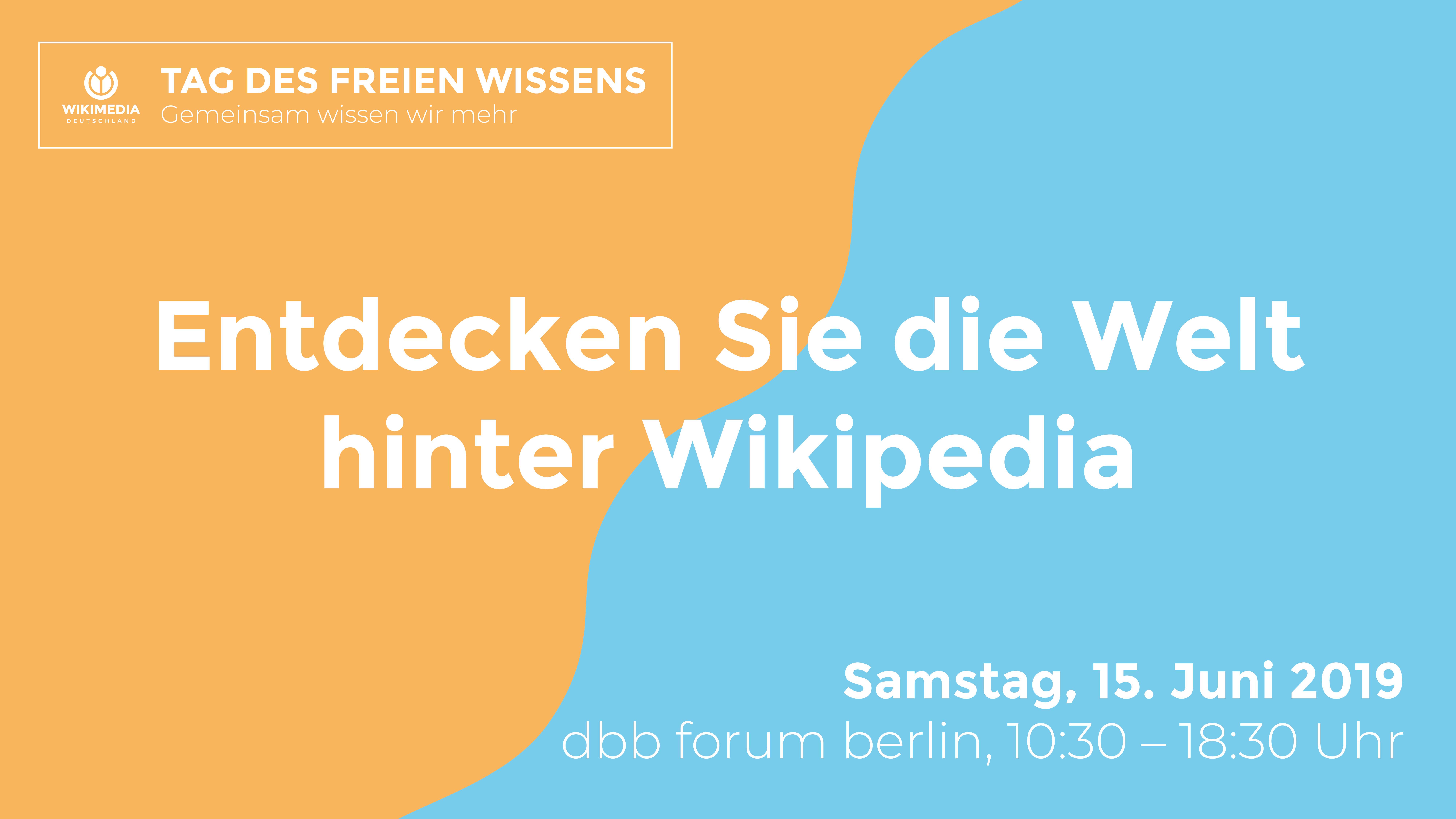 Panel zu #wikifueralle am Tag des freien Wissens